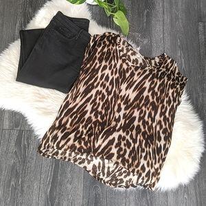 👕MICHAEL MICHAEL KORS - Leopard Print Top